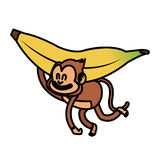 Isolated monkey cartoon design Royalty Free Stock Photos