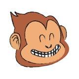 Isolated monkey cartoon design Royalty Free Stock Images