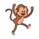 Isolated monkey cartoon design Stock Images