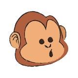 Isolated monkey cartoon design Royalty Free Stock Photo