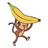 Isolated monkey cartoon design Stock Photography