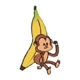 Isolated monkey cartoon design Royalty Free Stock Image