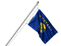 Isolated Montana Flag Royalty Free Stock Photo