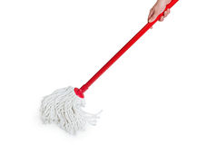 Isolated mop. On white background royalty free stock photos