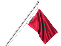 Isolated Moroccan Flag Royalty Free Stock Photography
