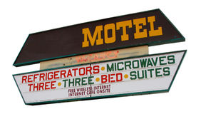 Isolated motel sign Royalty Free Stock Photo