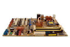 Isolated Motherboard Royalty Free Stock Photos