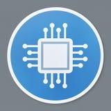 Isolated motherboard icon illustration royalty free illustration