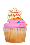 Isolated mothers day pink cupcake. On white background Royalty Free Stock Image