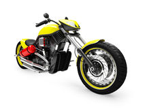Isolated moto front view 01. Isolated moto on a white background Royalty Free Stock Photography