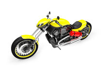 Isolated moto front view 02 Royalty Free Stock Photography