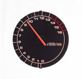 Isolated motor tachometer Royalty Free Stock Image