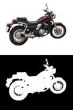 Isolated motorcycle Stock Photo