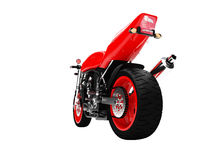 Isolated motorcycle back view Royalty Free Stock Image