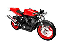 Isolated motorcycle front view Royalty Free Stock Image