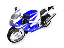 Isolated motorcycle front view Royalty Free Stock Images