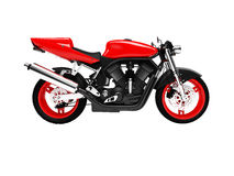 Isolated motorcycle side view Royalty Free Stock Photo