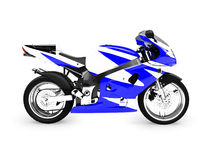 Isolated motorcycle side view Stock Photo