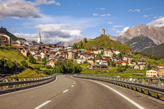 Isolated mountain village in Switzerland Royalty Free Stock Photography