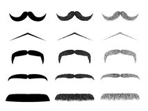 Isolated moustache illustration collection Stock Images