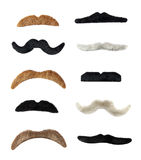 Isolated Moustaches Stock Photos