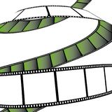 Isolated movie/photo film. Illustration on white background (with vector EPS format Stock Images