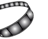 Isolated movie/photo film Royalty Free Stock Photos