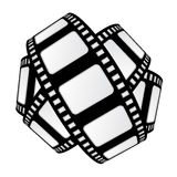 Isolated movie tape sphere vector Stock Image