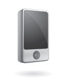 Isolated mp3 player vector. Wide screen smart mp3 player or media player isolated Stock Photo
