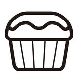 Isolated muffin icon. Fast food. Vector illustration design Royalty Free Stock Photo