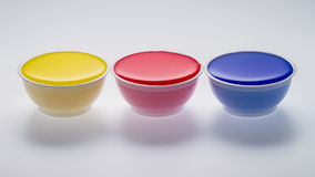 Isolated multi color in cups Stock Photo