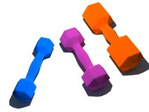 Isolated multicolor dumbbells Stock Photo