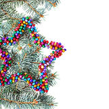 Isolated multicolored christmas star background with copy space Royalty Free Stock Photo