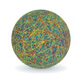 Isolated Multicolored Yarn Ball. Vector Image Royalty Free Stock Photo