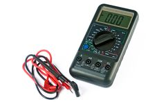 Isolated multimeter Royalty Free Stock Photo