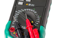 Isolated multimeter with probes Royalty Free Stock Images