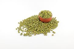 Isolated mung beans stock image