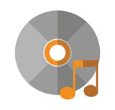 Isolated music note and cd design Stock Image