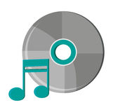 Isolated music note and cd design Stock Photos