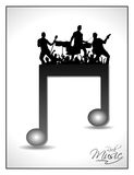 Isolated musical note having on disco Stock Photos