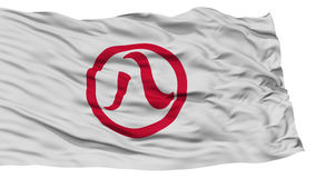 Isolated Nagoya Flag, Capital of Japan Prefecture, Waving on White Background Stock Photography