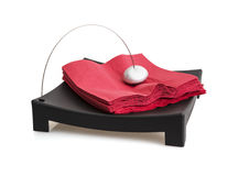 Isolated napkin holder with paperweight Stock Photos
