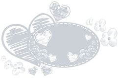 Isolated Natural banner with hearts and flower Royalty Free Stock Image