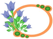 Isolated Natural banner with tulips Stock Image