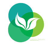 Isolated nature logo Royalty Free Stock Image