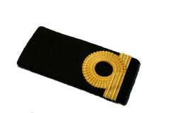 Isolated Navy epaulet Royalty Free Stock Images