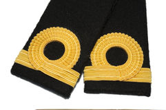 Isolated Navy epaulet Royalty Free Stock Image