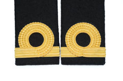 Isolated Navy epaulet Royalty Free Stock Photos