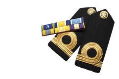 Isolated Navy epaulet rank sign Royalty Free Stock Photos
