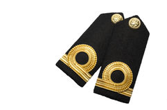 Isolated Navy epaulet rank sign. With spcace royalty free stock image